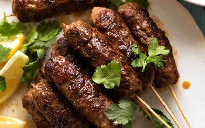PERFECT SUMMER FOOD :  Lamb Koftas with homemade tzatziki